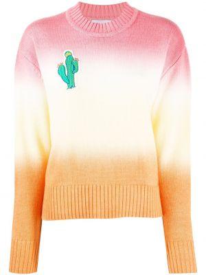 Акриловый вязаный свитер с воротником в рубчик Mira Mikati