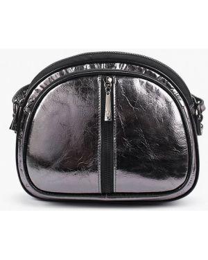 Кожаная сумка через плечо серебряный Valensiy