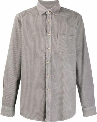 Классическая прямая фланелевая классическая рубашка с воротником Portuguese Flannel