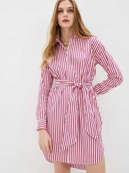 Платье розовое платье-рубашка Polo Ralph Lauren