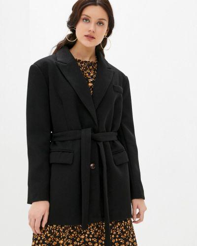 Черное полупальто B.style