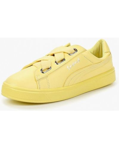 Желтые низкие кеды Dino Ricci Trend