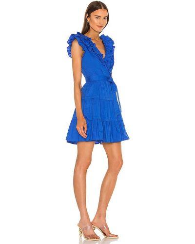 Niebieska sukienka mini bawełniana Bcbgmaxazria