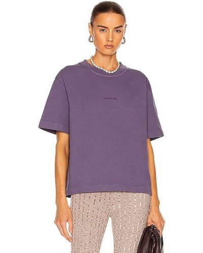 Фиолетовая футболка с принтом Acne Studios