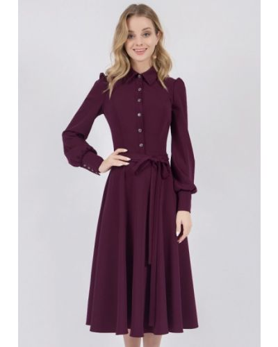 Платье миди осеннее фиолетовый Marichuell