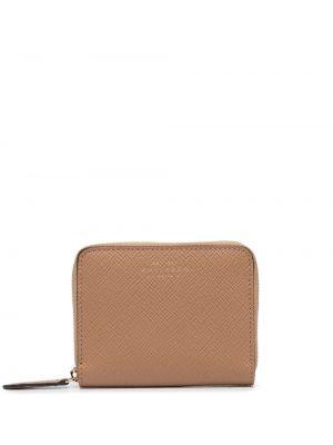 Brązowy portfel skórzany Smythson