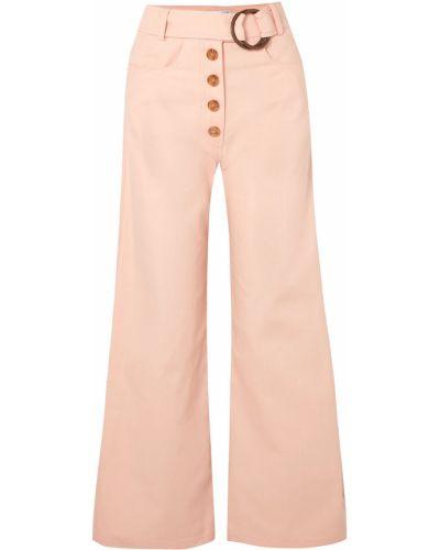 Джинсовые синие широкие джинсы на шпильке Rejina Pyo