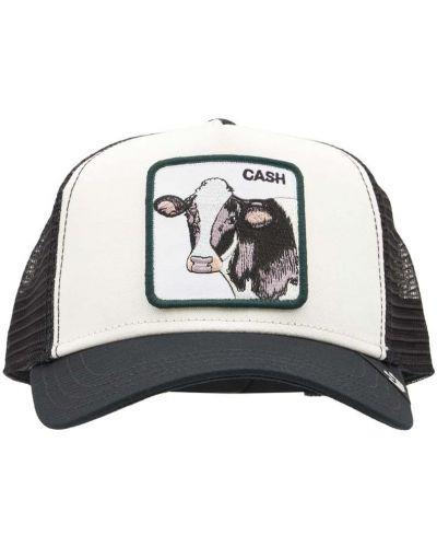 Czarny kapelusz z haftem Goorin Bros