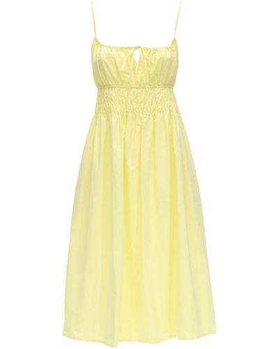 Żółta sukienka midi bawełniana Ciao Lucia
