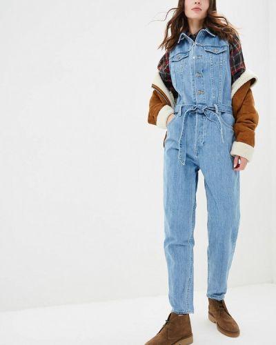 Голубой джинсовый комбинезон Levi's®