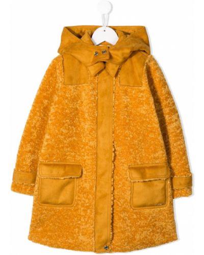 Желтое длинное пальто Twin-set