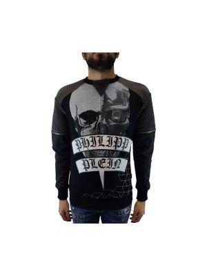 Czarna bluza bawełniana Philipp Plein