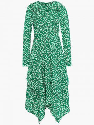 Зеленое платье миди с поясом из крепа Mikael Aghal