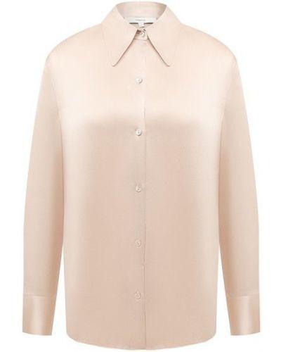 Шелковая бежевая блузка Vince.