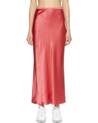 Satyna różowy spódnica maxi Collina Strada