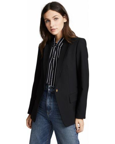 Клубный черный удлиненный пиджак с подкладкой Club Monaco