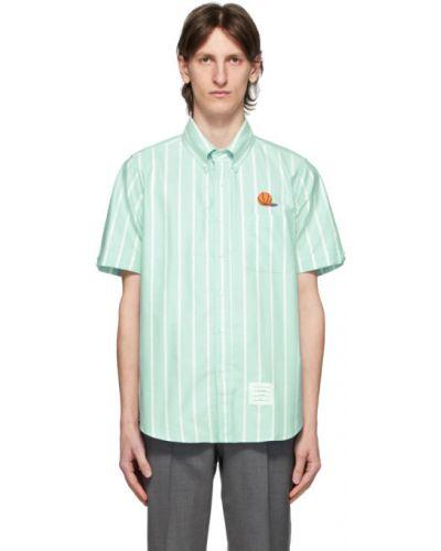 Koszula krótkie z krótkim rękawem Oxford w paski Thom Browne