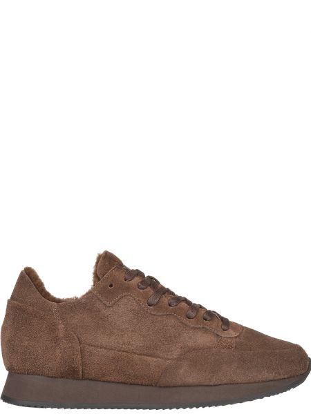 Кожаные кроссовки - коричневые Philippe Model