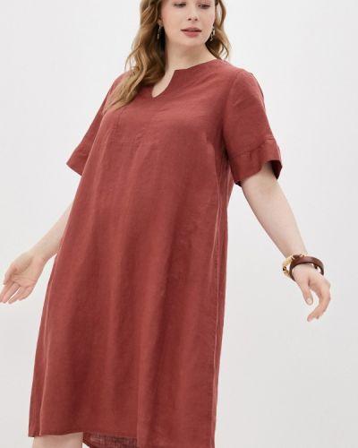 Коричневое повседневное платье Rosa Thea