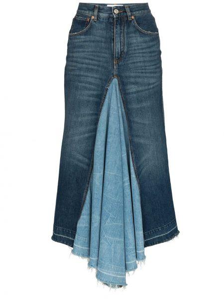 Dżinsowa spódnica midi niebieska Givenchy