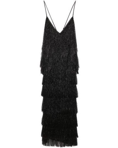 Платье миди с открытой спиной с бахромой Walk Of Shame