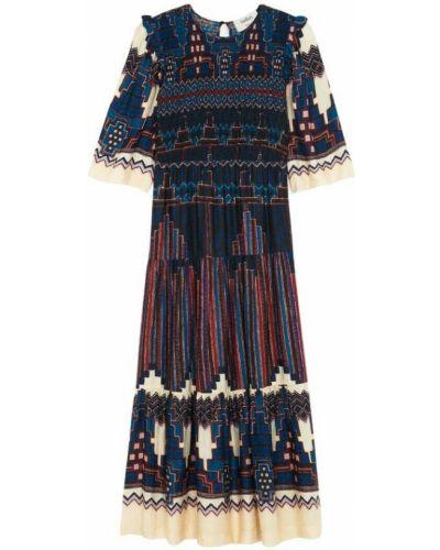 Niebieska sukienka midi Ba&sh