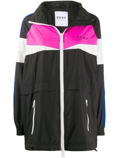 Длинная куртка с карманами с вышивкой Dkny