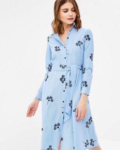 Голубое платье весеннее Zarina