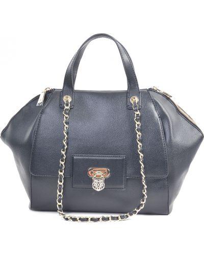 Кожаная сумка - черная Love Moschino