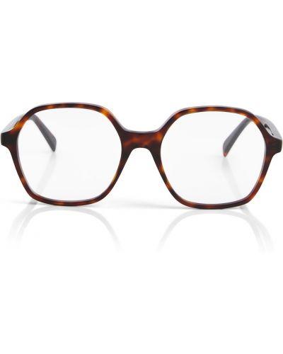 Коричневые очки для зрения винтажные Céline Eyewear
