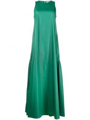 Зеленое платье макси без рукавов с вырезом Peserico