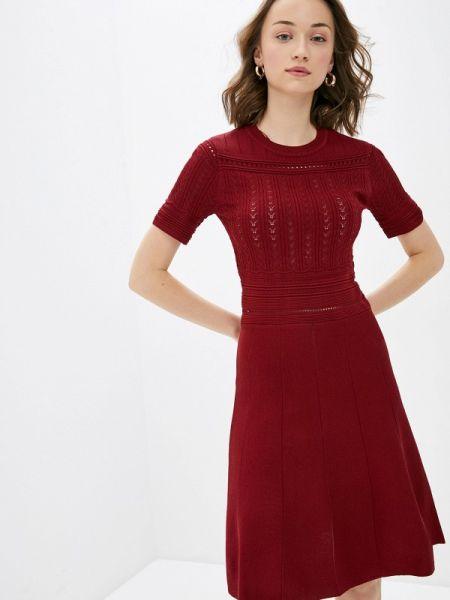 Платье бордовый прямое Concept Club