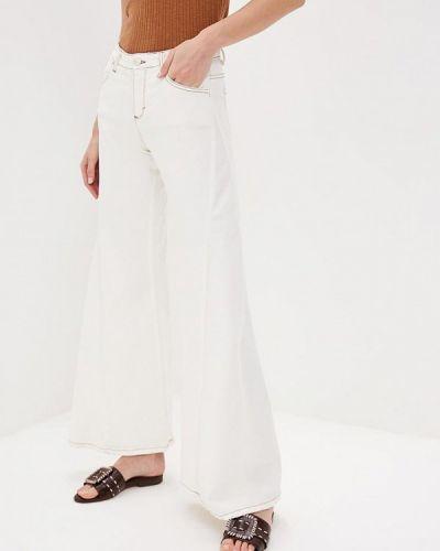 Широкие джинсы расклешенные белые Miss Miss By Valentina