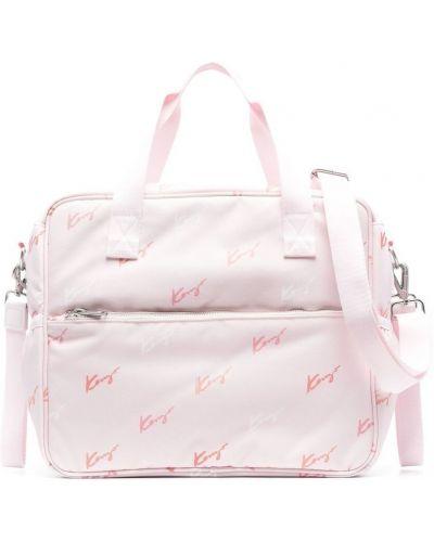 С ремешком розовая косметичка Kenzo Kids