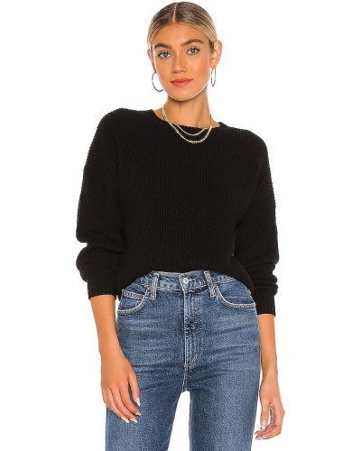 Кашемировый черный свитер для полных 525
