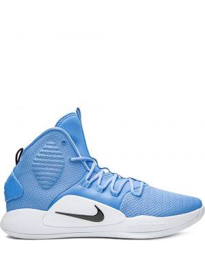 Высокие кроссовки черные сетчатые Nike