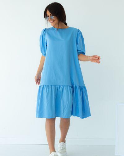 Платье трапеция - голубое Clew