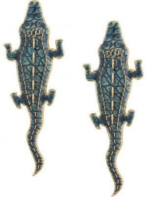 Синие серьги металлические Natia X Lako