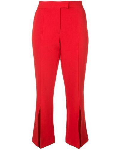 Красные укороченные брюки с воротником с поясом Robert Rodriguez Studio