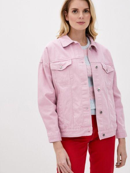 Джинсовая куртка весенняя розовая Befree