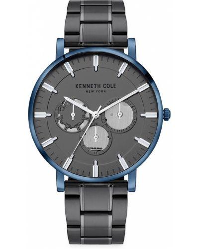 Niebieski zegarek srebrny Kenneth Cole New York