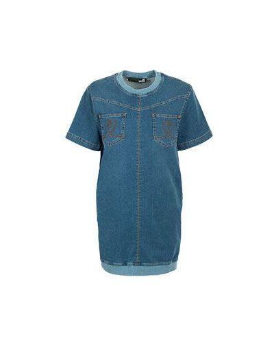 Синее джинсовое платье Moschino Love