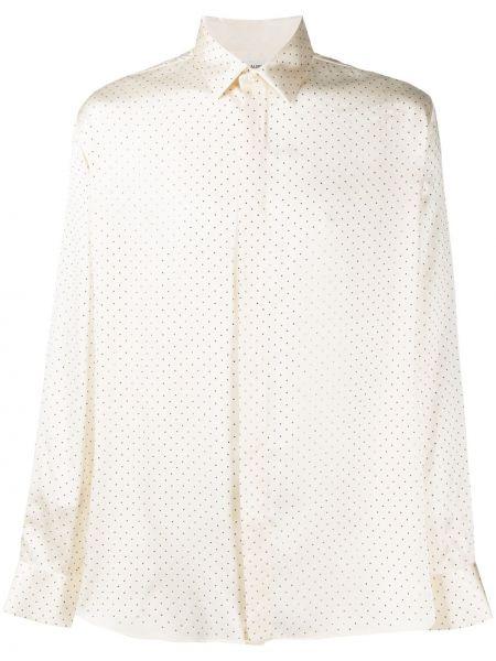 Koszula z długim rękawem klasyczna jedwab Saint Laurent