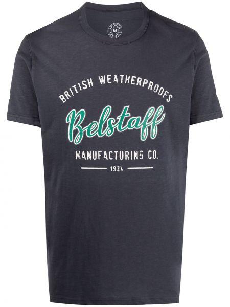 Bawełna prosto czarny koszula krótkie z krótkim rękawem okrągły dekolt Belstaff