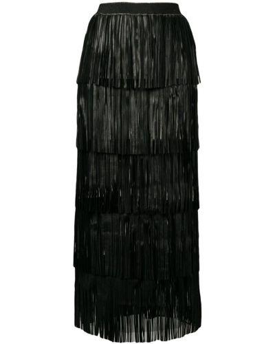 Юбка макси с завышенной талией с бахромой Caban Romantic