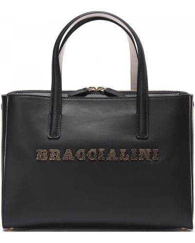 Кожаная сумка Braccialini