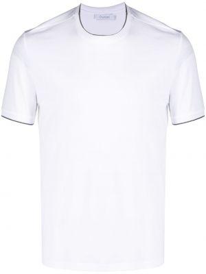 Biały t-shirt bawełniany krótki rękaw Cruciani