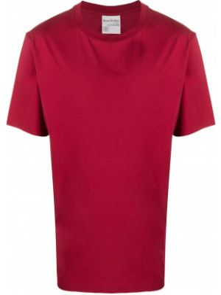 Koszula krótkie z krótkim rękawem prosto z logo Acne Studios