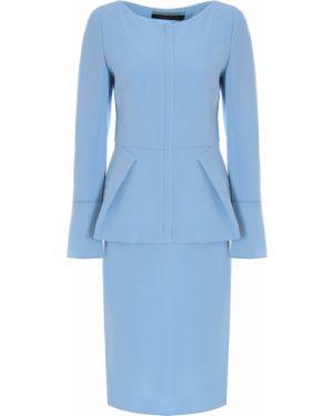 Шерстяной костюм - голубой Roland Mouret