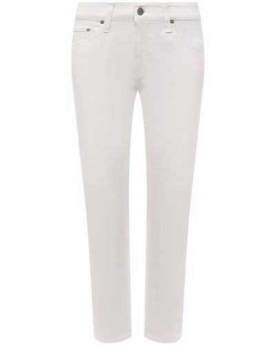 Белые джинсы с завышенной талией Ag